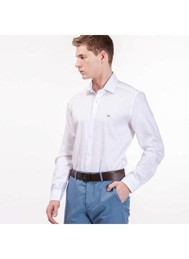 Lacoste Uzun Kollu Klasik Gömlek Beyaz